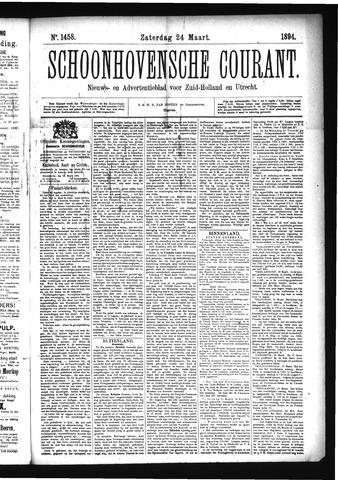 Schoonhovensche Courant 1894-03-24