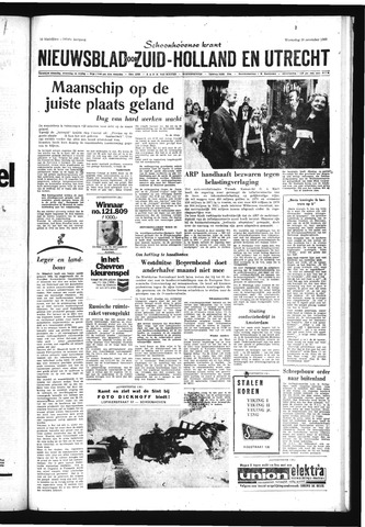 Schoonhovensche Courant 1969-11-19