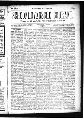Schoonhovensche Courant 1910-02-16
