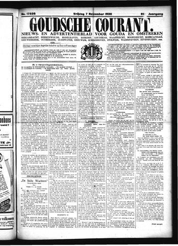 Goudsche Courant 1930-11-07