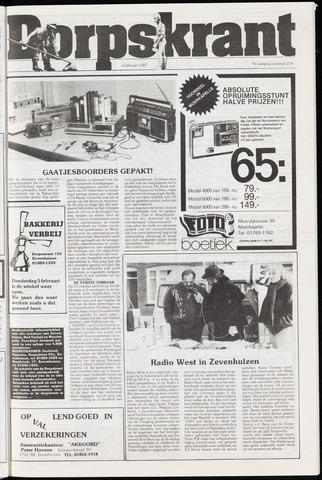 Dorpskrant 1987-02-04