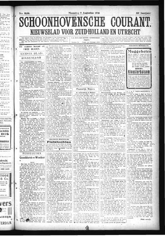 Schoonhovensche Courant 1926-08-09