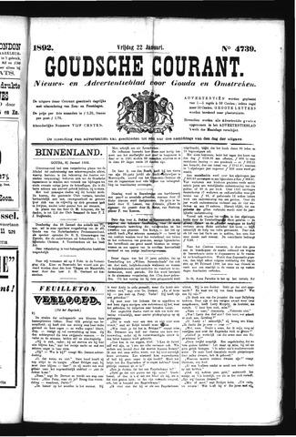 Goudsche Courant 1892-01-22