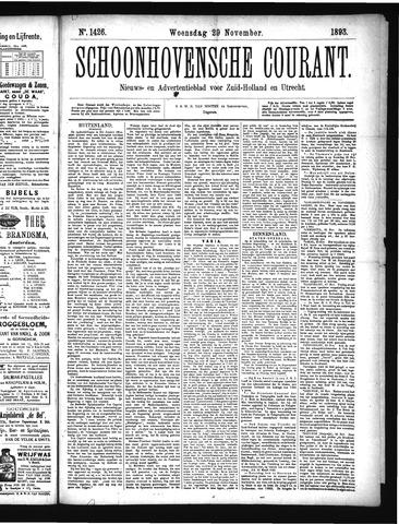Schoonhovensche Courant 1893-11-29