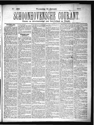 Schoonhovensche Courant 1912-01-24