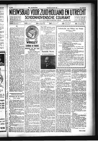 Schoonhovensche Courant 1933-03-20