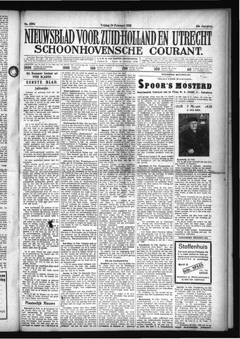 Schoonhovensche Courant 1928-02-24
