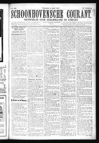 Schoonhovensche Courant 1924-04-14