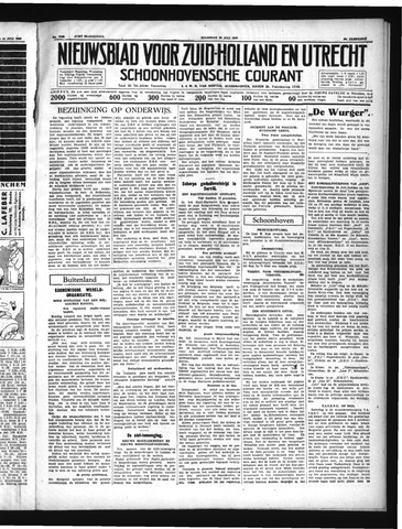 Schoonhovensche Courant 1937-07-26