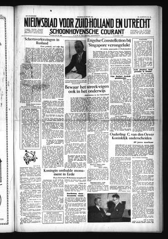 Schoonhovensche Courant 1954-03-15