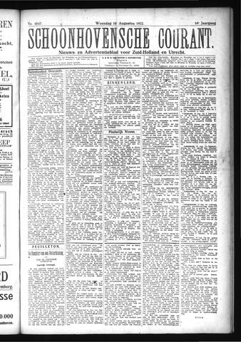 Schoonhovensche Courant 1922-08-16