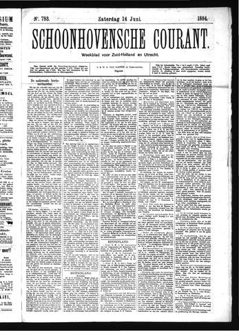 Schoonhovensche Courant 1884-06-14