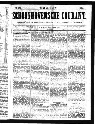 Schoonhovensche Courant 1874-06-28