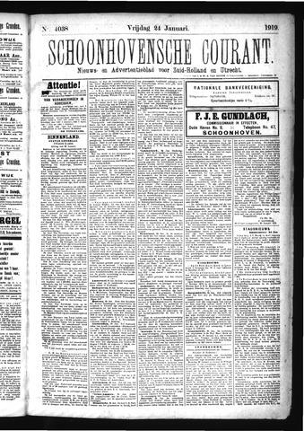 Schoonhovensche Courant 1919-01-24