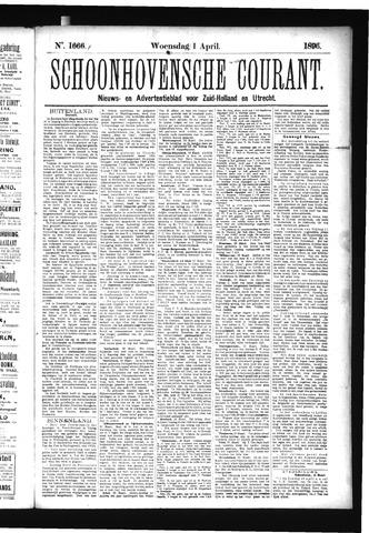 Schoonhovensche Courant 1896-04-01