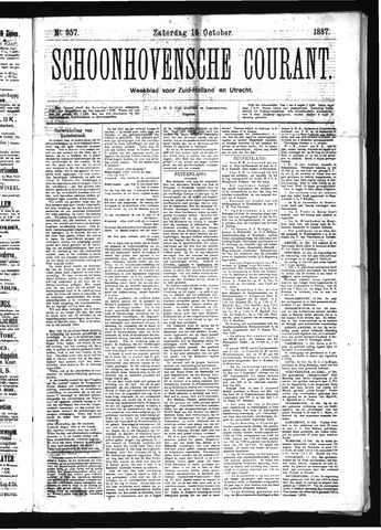 Schoonhovensche Courant 1887-10-15