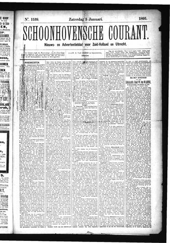 Schoonhovensche Courant 1895-01-05