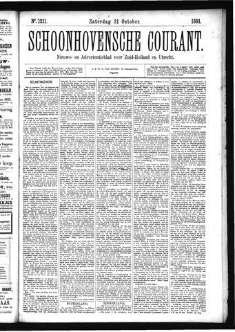 Schoonhovensche Courant 1891-10-31