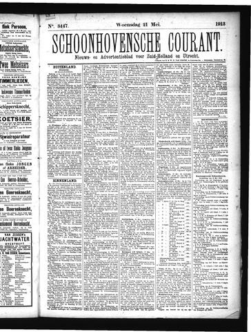 Schoonhovensche Courant 1913-05-21