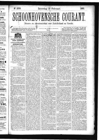 Schoonhovensche Courant 1892-02-13