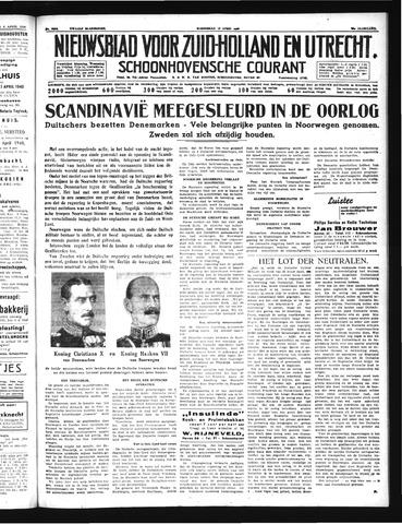 Schoonhovensche Courant 1940-04-10
