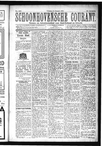 Schoonhovensche Courant 1922-01-13