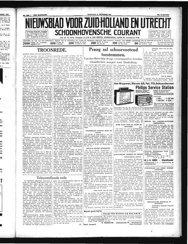 Schoonhovensche Courant 1938-09-21