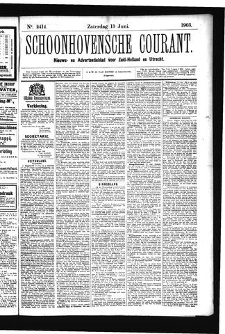 Schoonhovensche Courant 1903-06-13