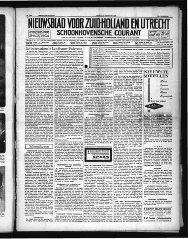 Schoonhovensche Courant 1938-02-25