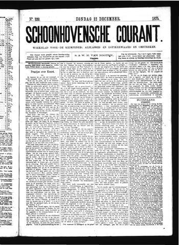 Schoonhovensche Courant 1875-12-12