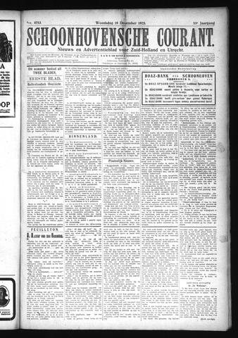 Schoonhovensche Courant 1923-12-19