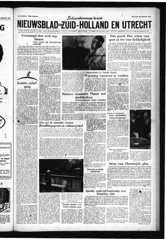 Schoonhovensche Courant 1960-09-28