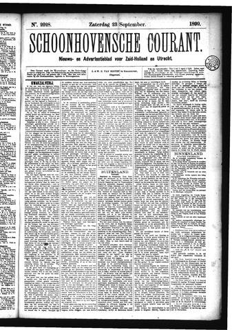 Schoonhovensche Courant 1899-09-23