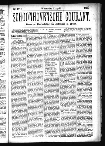 Schoonhovensche Courant 1898-04-06