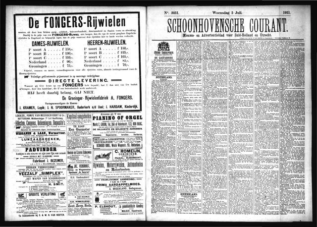 Schoonhovensche Courant 1911