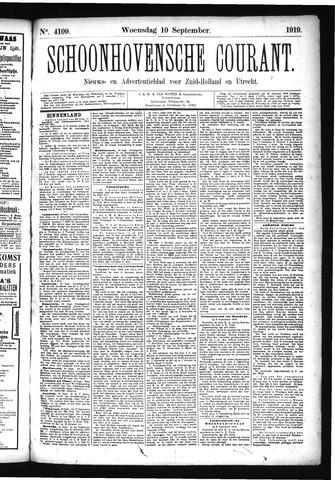Schoonhovensche Courant 1919-09-10