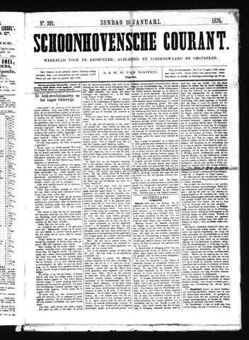 Schoonhovensche Courant 1875-01-10