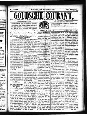 Goudsche Courant 1919-09-18