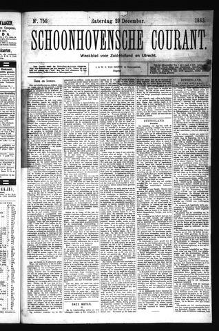 Schoonhovensche Courant 1883-12-29