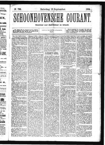 Schoonhovensche Courant 1884-09-13