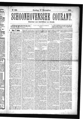Schoonhovensche Courant 1881-11-27
