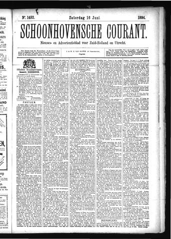 Schoonhovensche Courant 1894-06-16