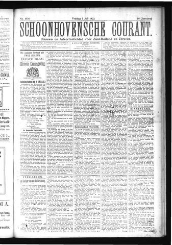Schoonhovensche Courant 1922-07-07