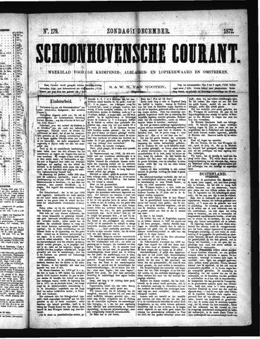 Schoonhovensche Courant 1872-12-01