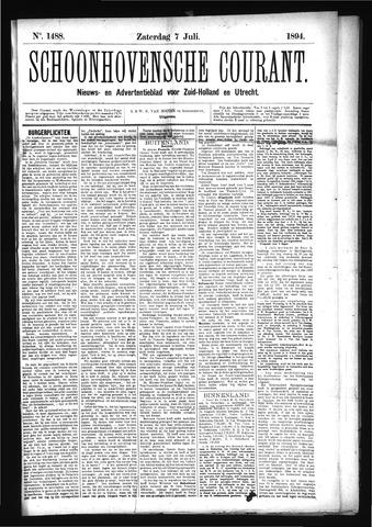 Schoonhovensche Courant 1894-07-07