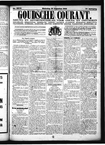 Goudsche Courant 1932-08-29