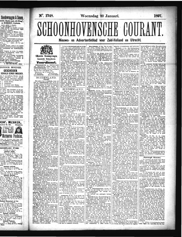 Schoonhovensche Courant 1897-01-20