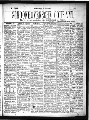 Schoonhovensche Courant 1914-10-03
