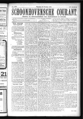 Schoonhovensche Courant 1922-10-30