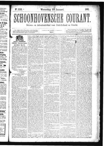 Schoonhovensche Courant 1891-01-28